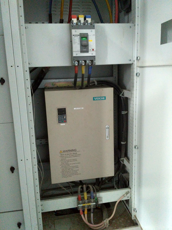 AC70 inverter on hydrapulper