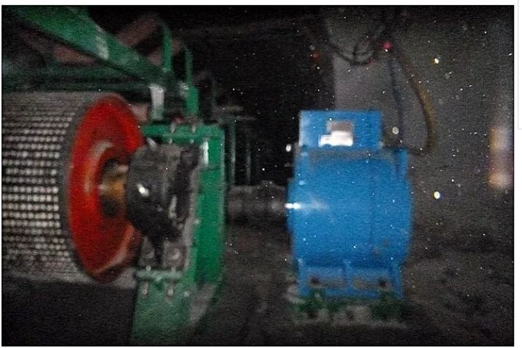 Synchronous motor direct drive technology in the coal field (encoder installation is difficult and not easily maintained in mine environment.)
