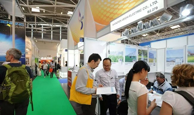veichi booth on intersolar expo