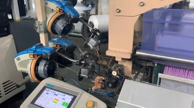 Electronic let-off and take-up function display of VEICHI water jet loom